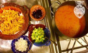 Traditional tortilla soup